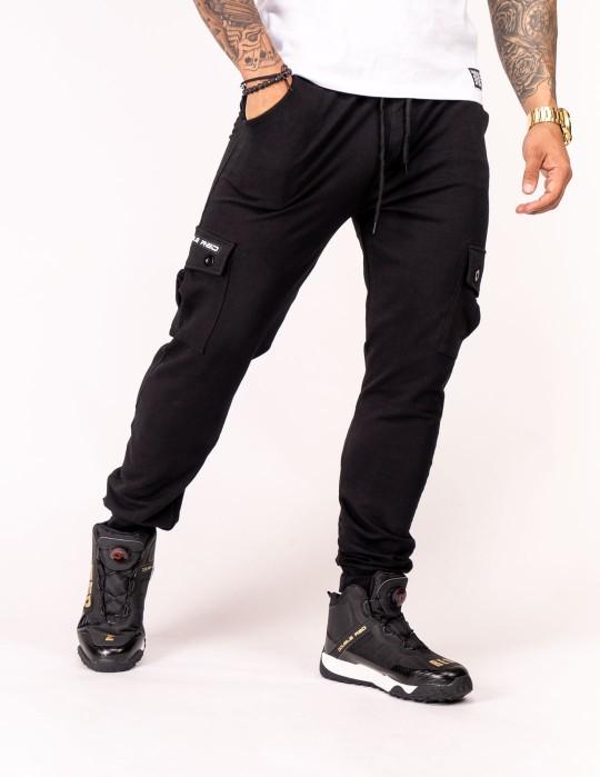 Sweatpants Side Pocket Black