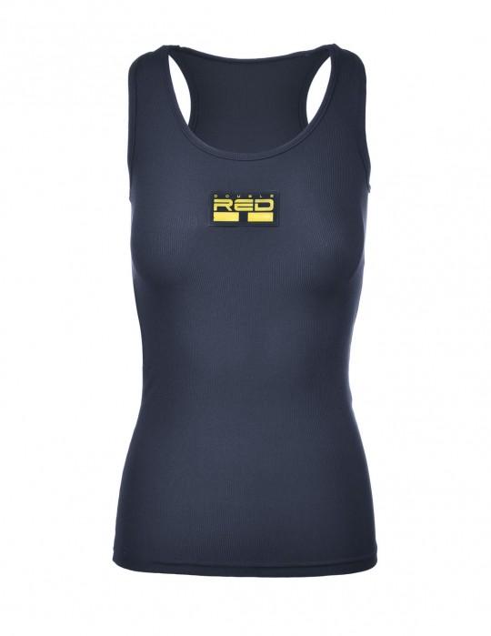 Tank Sportisyourgang Dark Blue 3d Neon Logo Yellow