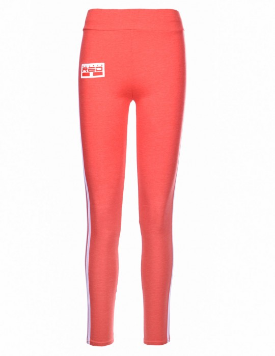 Leggins SPORT IS YOUR GANG 3D Logo Orange
