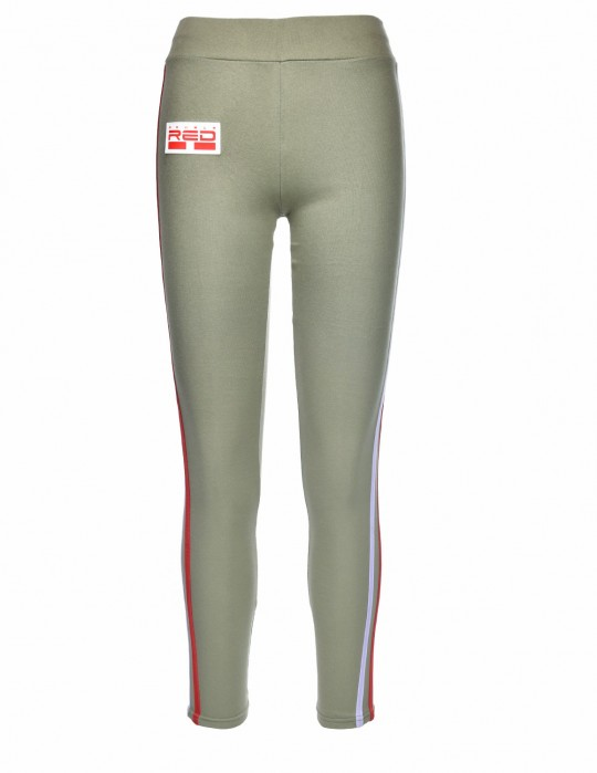 Leggins SPORT IS YOUR GANG 3D Logo Army Green
