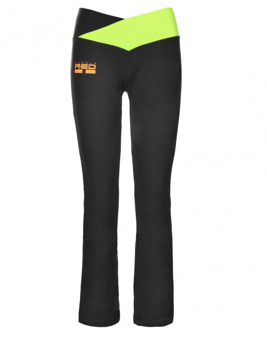 Leggins SPORT IS YOUR GANG Geometric 3D Logo Black/Green