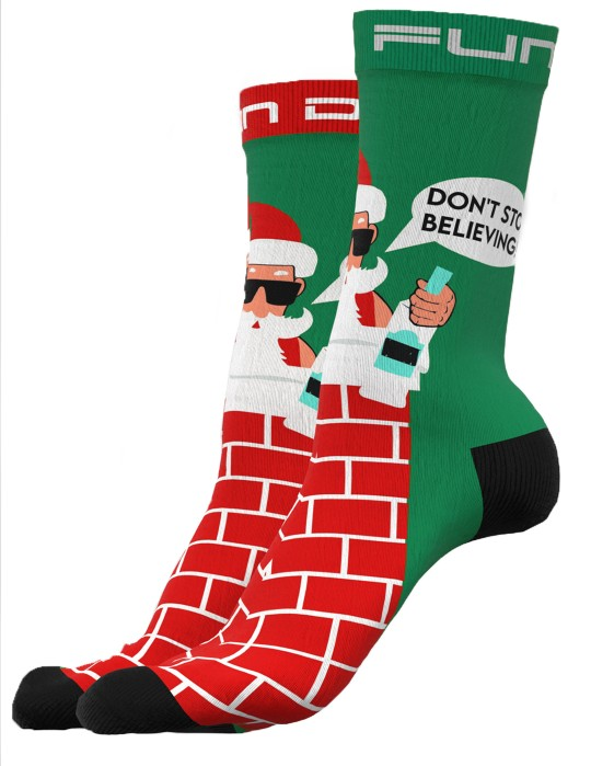 DOUBLE FUN Socks Don't Stop Believing