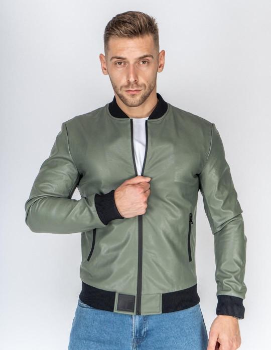 SOPRANO Leather Jacket Olive