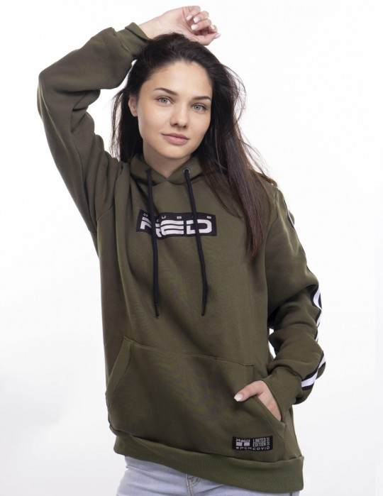 UNISEX OUTSTANDING FCK COVID LIMITED EDITION Hoodie Olive