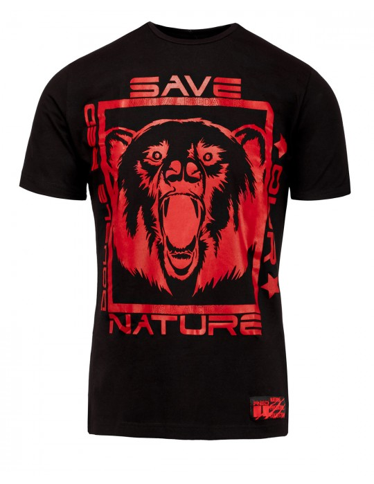 Natural Predators Bear T-Shirt Black