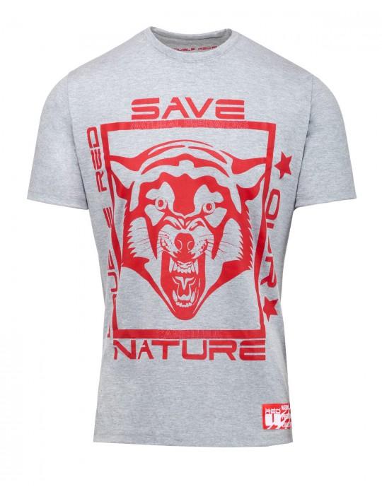 Natural Predators Wolf T-Shirt Grey
