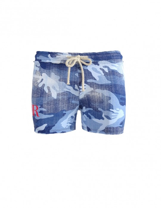 Limited W Blue Denim Camo Sweatshorts