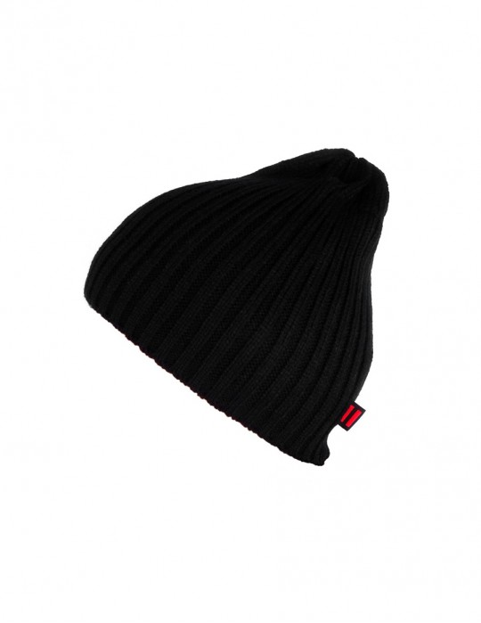 DR Knit Beanie Hat Black