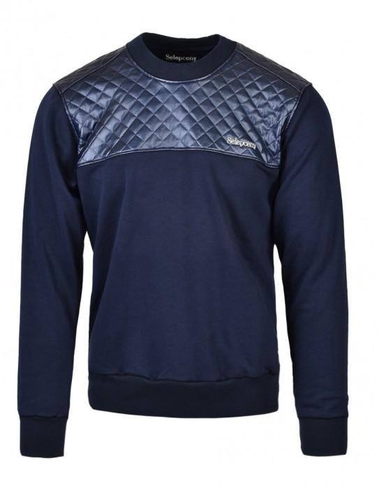SELEPCENY Cotton Sweatshirt Dark Blue