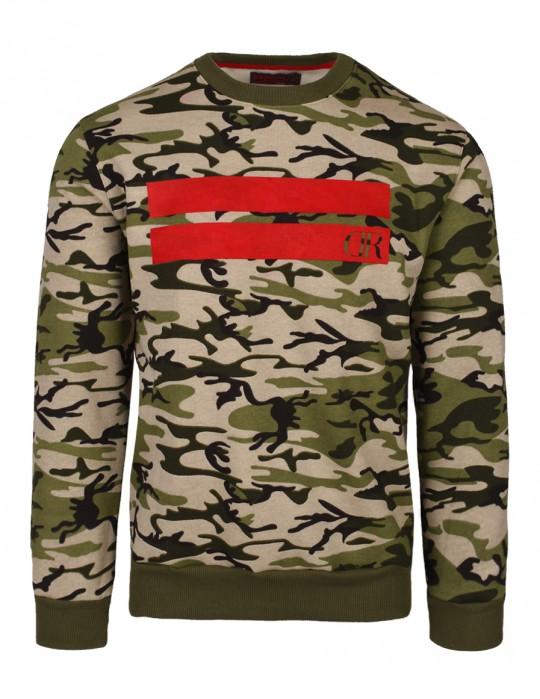Sweatshirt Stripes Green Camo
