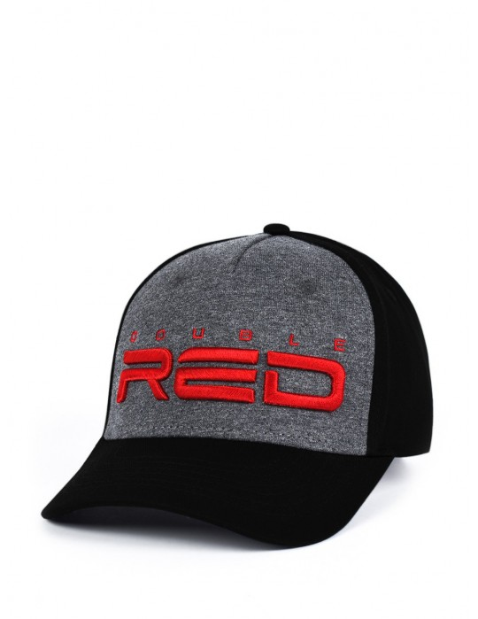 STREETHERO DOUBLE RED Snapback Melange 3D Embroidery Grey/Black