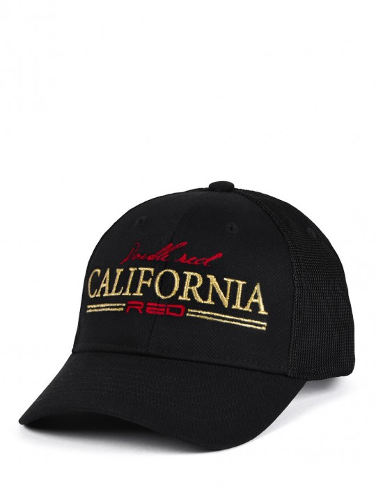 CALIFORNIA RED Cap Black