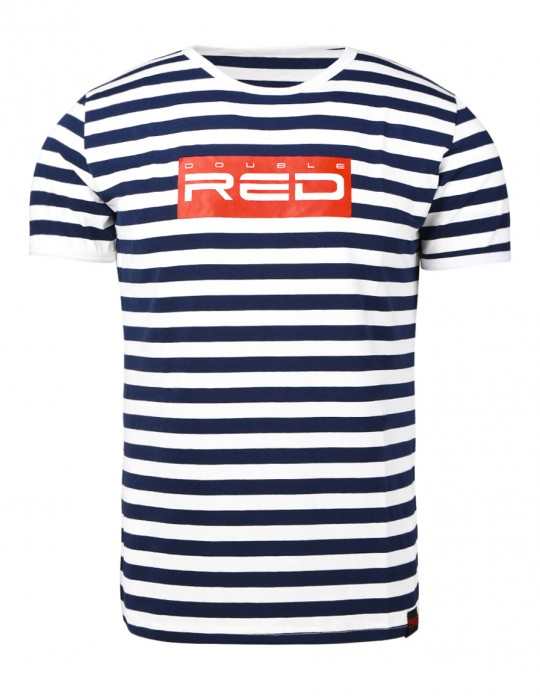 Nautical Striped T-Shirt ALL LOGO Red