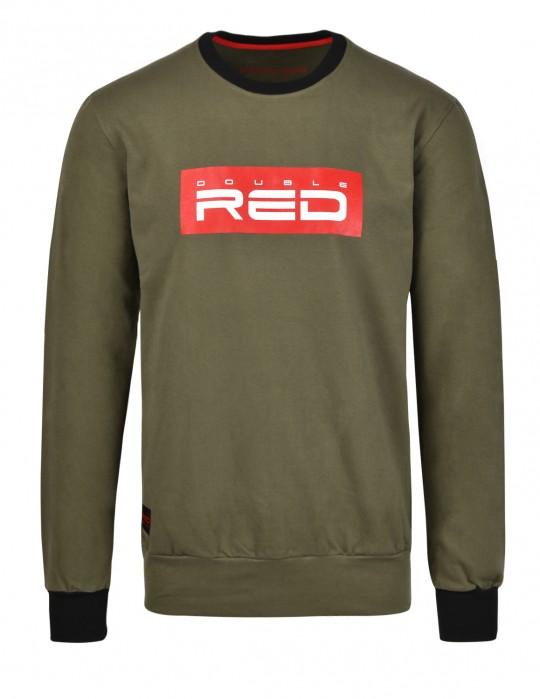 Sweatshirt All Logo Olive
