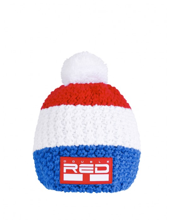 DOUBLE RED COURCHEVEL Pompom Cap Blue/White/Red