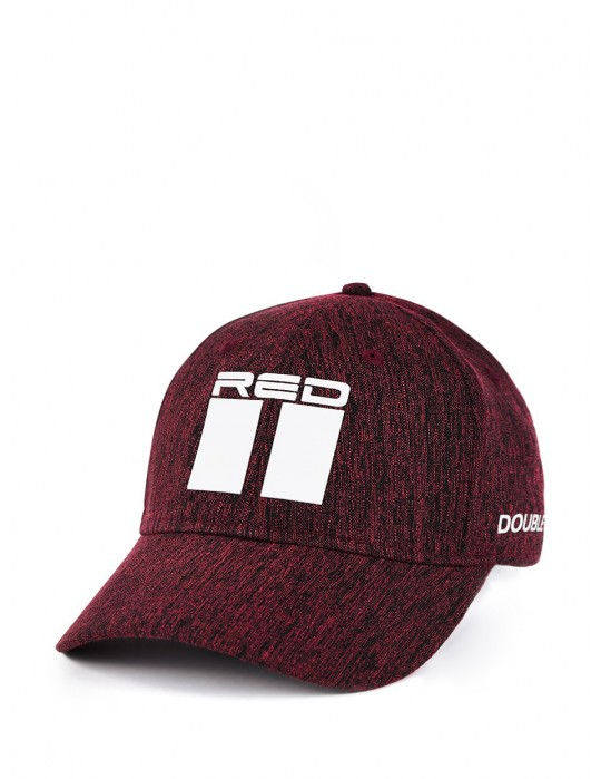 Shadows DOUBLE RED Melange Stretch Fit 3D Logo Cap Bordeaux