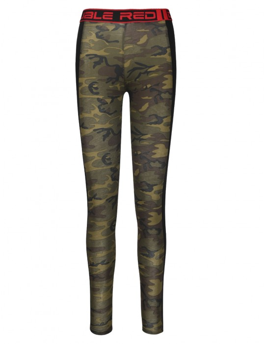 RED LEGGINS Green Camo
