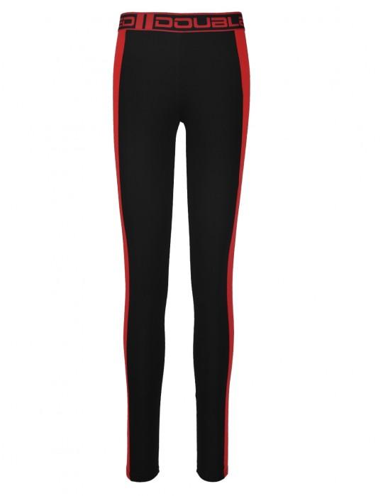 RED LEGGINS Black/Red