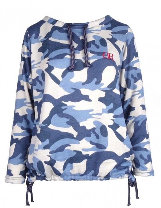 Knit Jumper Blue CAMO