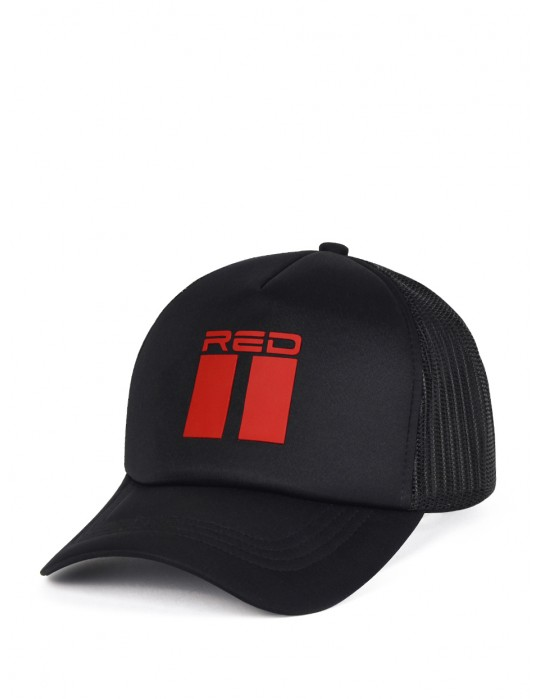 DOUBLE RED 3D Black Cap