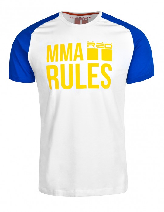 T-Shirt MMA RULES Blue/White