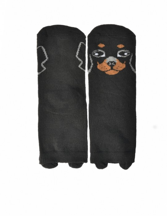 KID Fun Socks Black Doggy