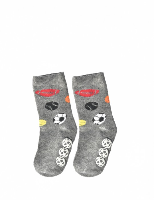 KID Fun Socks Sport Dark Grey