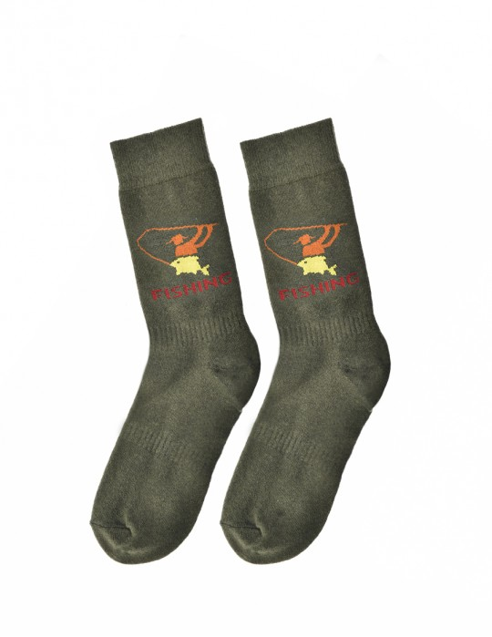 Men's FUN Socks Fishing