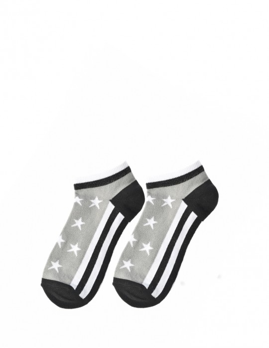 FUN Low Cut Socks Stars Grey