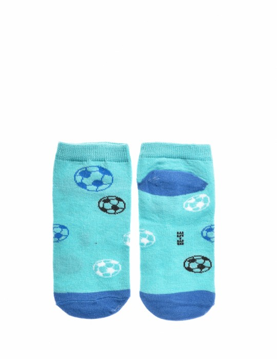 KID Fun Socks Foot-ball Blue