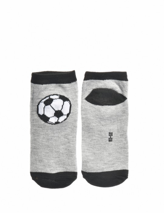 KID Fun Socks Foot-ball Grey