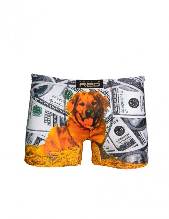 2FUN Boxers Dolar Dog Grey