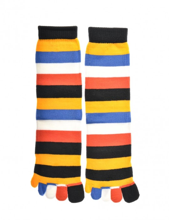 DOUBLE FUN Toe Socks Sahara Rainbow