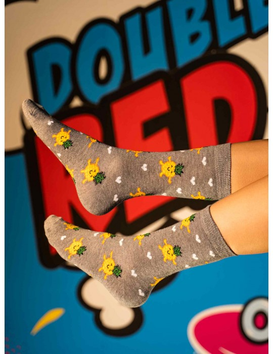DOUBLE FUN Socks Happy Ananas