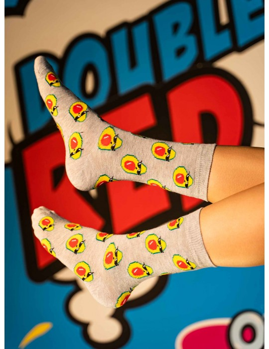DOUBLE FUN Socks ThugLife Avocado
