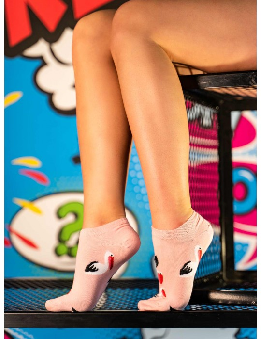Women's Low Cut FUN Socks Swan