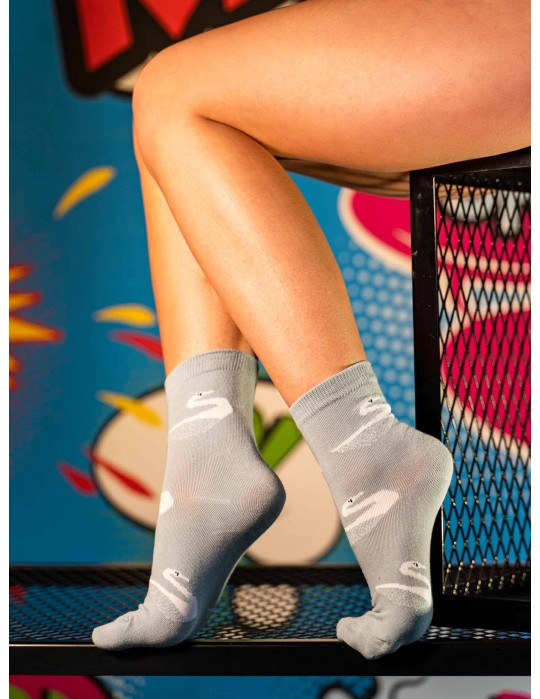 Women's FUN Socks Swan