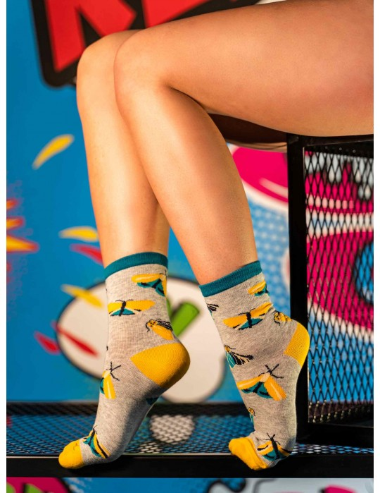 Women's FUN Socks Night Butterfly