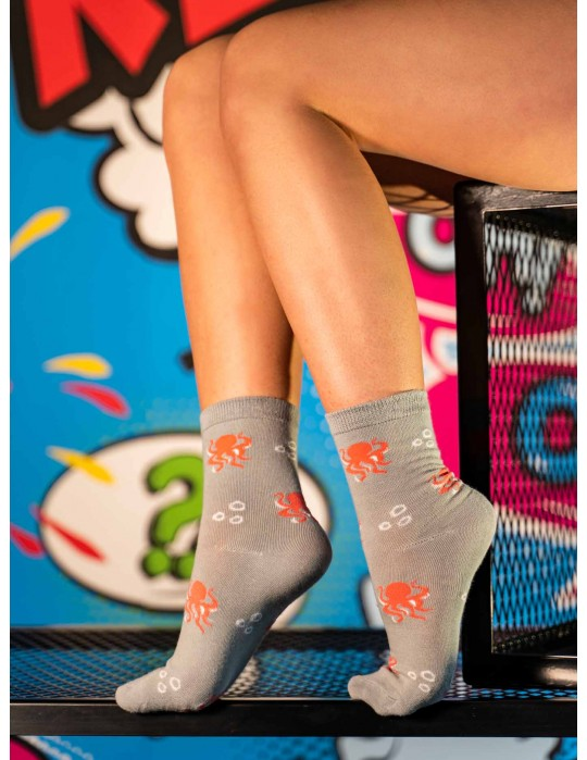 Women's FUN Socks Octupus