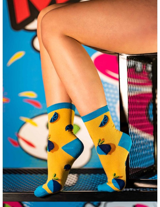 Women's FUN Socks Blue Tropical